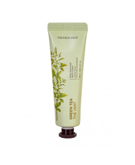 The Face Shop Daily Perfumed Hand Cream Green Tea - Parfumuotas rankų kremas su žaliąja arbata 30ml